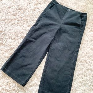 Kate Spade Saturday Black Cropped Structured Pants